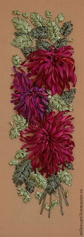 Chrysanthemums #ribbonEmbroidery                                                                                                                                                      More