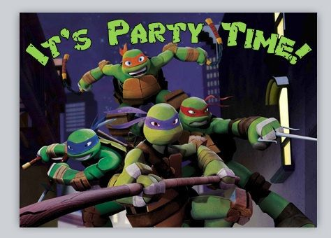 40th Birthday Ideas Ninja Turtles Invitation Templates