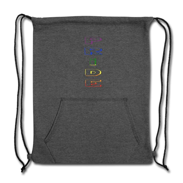pride Cinch Bag in rainbow colors