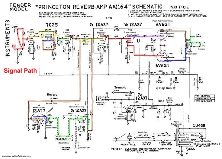 Schematic princeton reverb changing Princeton