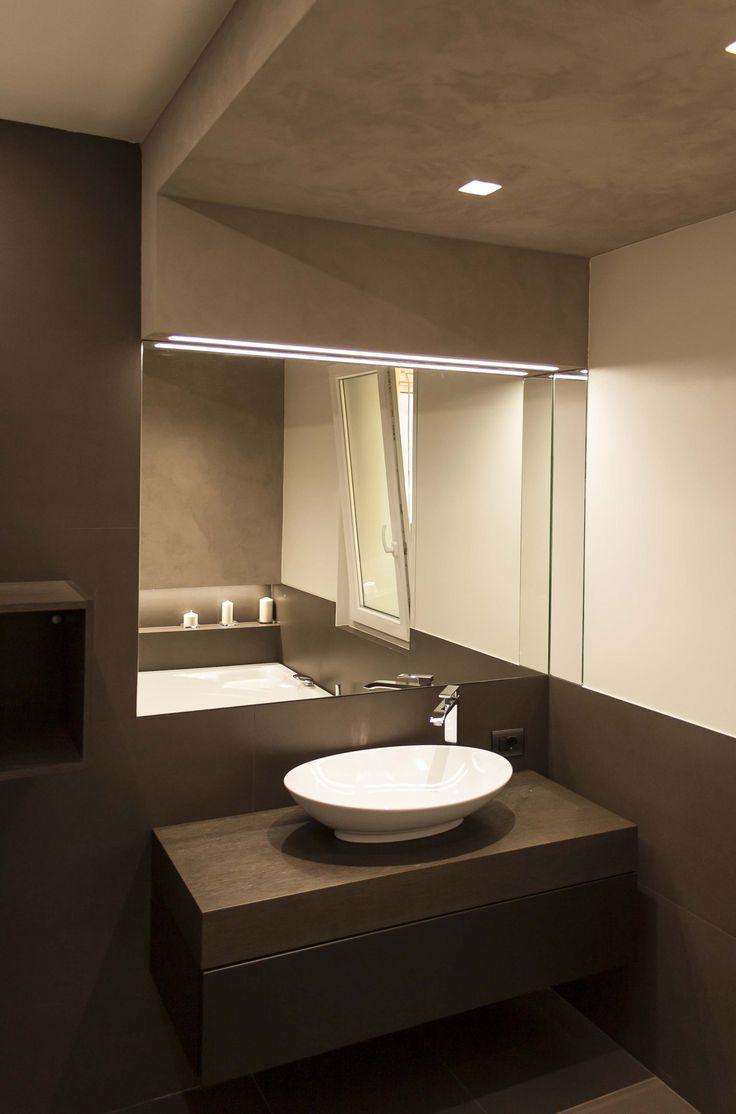 ... su Illuminazione Bagno su Pinterest  Disegno bagno, Toilette e Bagni