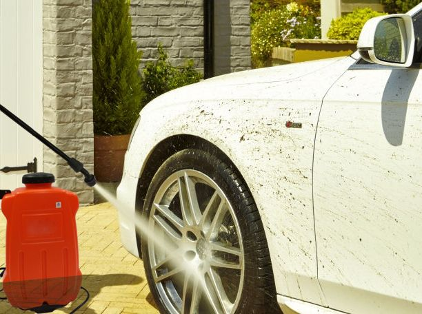 Car cleaning equipment with Aqua Tank, a portable steam cleaner