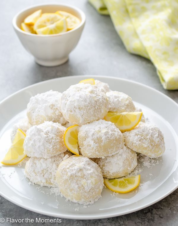 Meyer Lemon Greek Butter Cookies {Kourabiedes} are classic Greek holiday cookies with a refreshingcitrus twist.