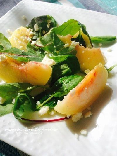桃の夏サラダ by kayさん | レシピブログ - 料理ブログのレシピ満載!