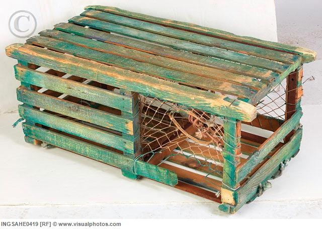 Antique Lobster Trap Coffee Table