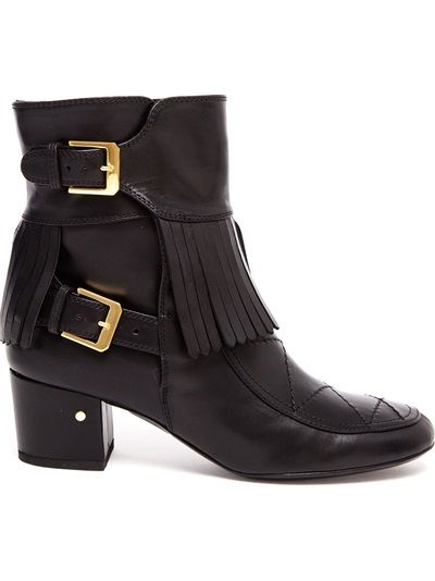 LAURENCE DACADE Babacar Fringed Leather Ankle Boots