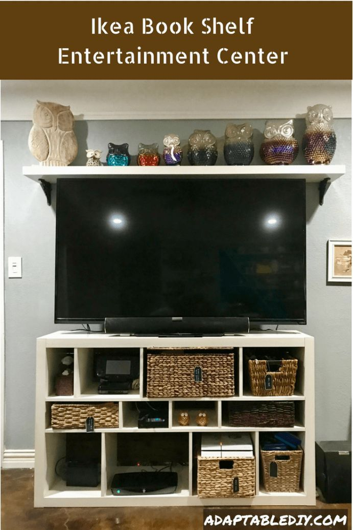 Ikea Book Shelf Entertainment Center