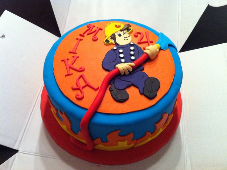 Fireman Sam cake by Zilla's Cupcakes