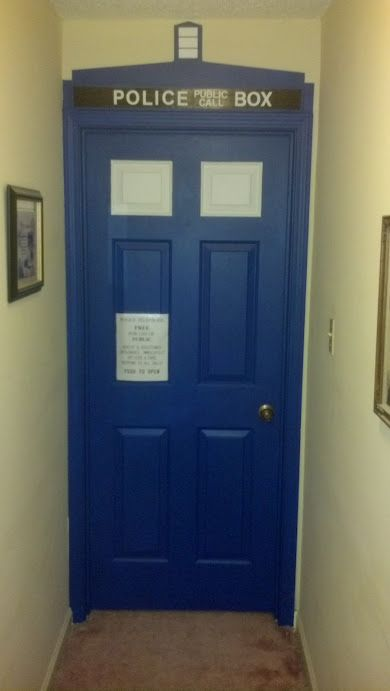 just awesome. tardis painted bedroom door.