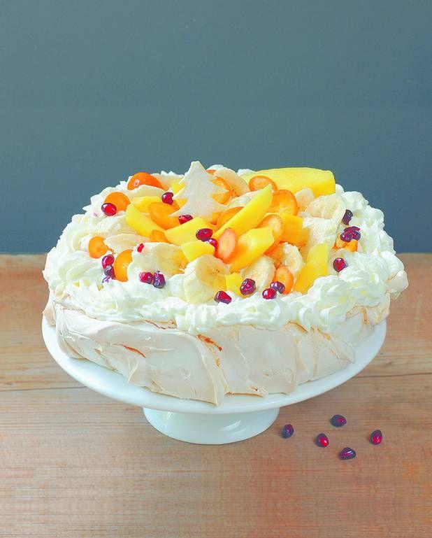 Pavlova exotique mangue kumquat banane pour 6 personnes - Recettes - Elle