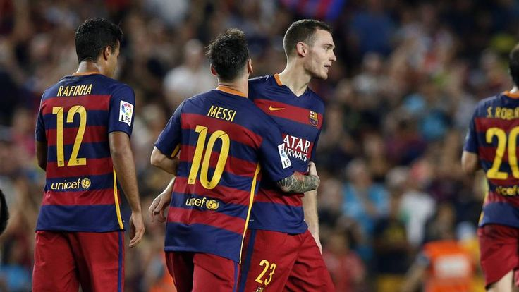 """29.08.2015 Vermaelen: """"It's was beautiful to get my first goal with Barça and we won a tough game"""""""
