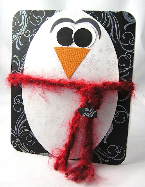 could use string for dangling legs instead of round the middle: Simple Penguin, Idea, Easter Cards, Pin Pin, Paper Projects, Dangling Legs
