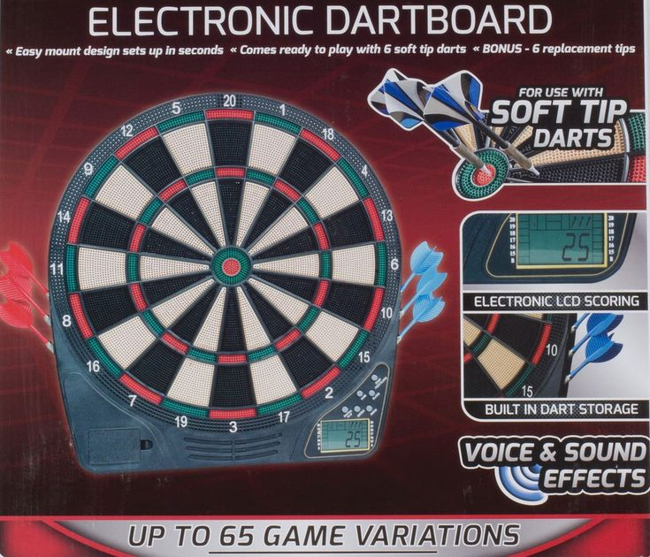 ICYMI: Soft Tip Electronic Dart Board Voice Sound Effects Dartboard 65 Game Variations