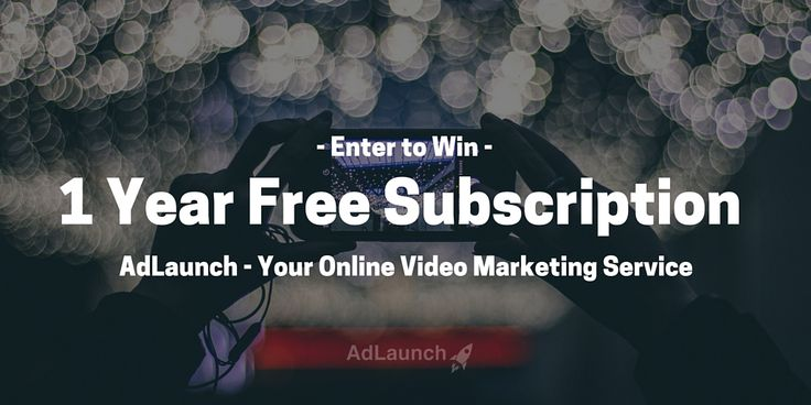 Creating hype about your startup? Make an ENTIRE year of business videos for free. Enter to win a 1-Year Subscription from AdLaunch.