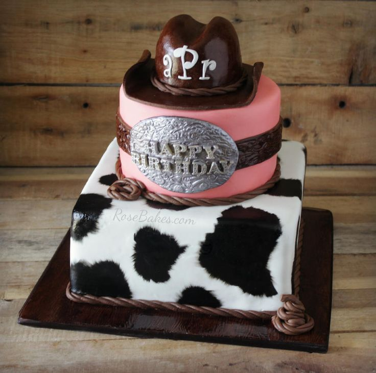 Cowgirl Western Cake - Cake by Rose Atwater