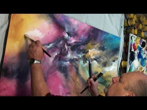 Abstract Art painting 'VERTIGO' Color Explosion Modern Mix Lang How to DEMO