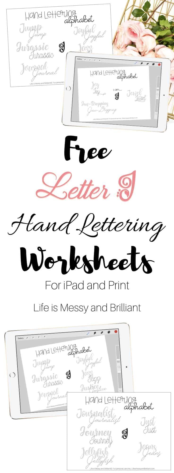 Free Letter J Hand Lettering Alphabet Practice Worksheet Hand Lettering Practice Sheets Hand Lettering Worksheet Lettering [ 2000 x 736 Pixel ]