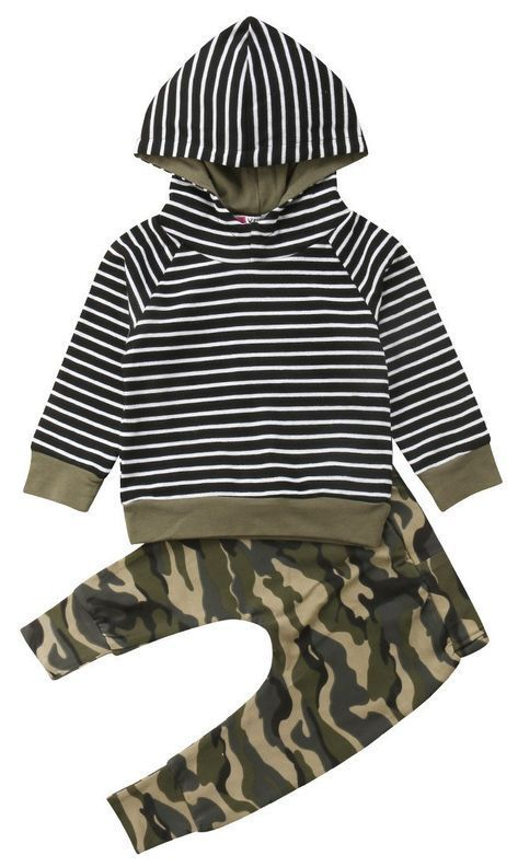 dcd10262df16b SALE 40% OFF + FREE SHIPPING! SHOP Our Stripe Camo Hoodie Set for Baby & Toddler  Boys