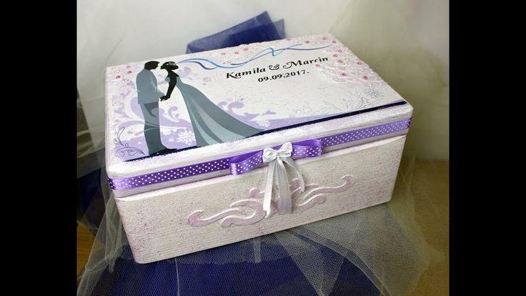 Decoupage# Pudełko na Ślub /Krok po kroku II Decoupage # Wedding Box / S...