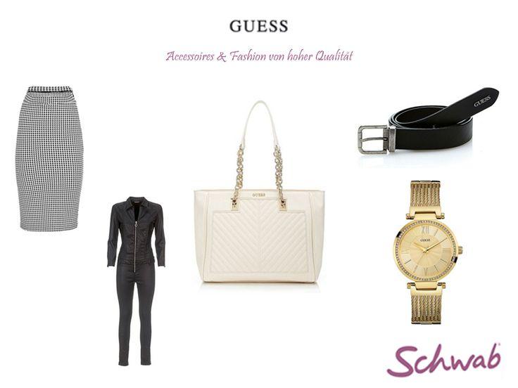 Hochwertige Mode und tolle Accessoires von #Guess im Schwab Online Shop.