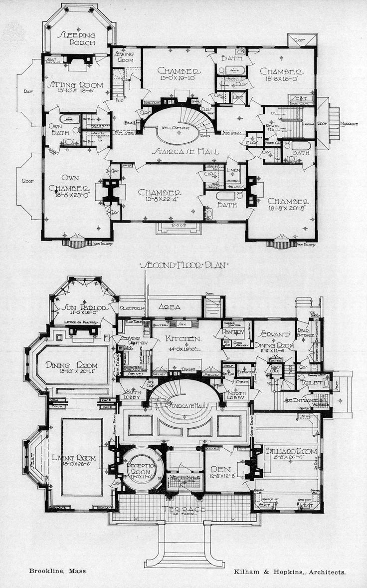 Floor plans of a residence, Brookline, Massachusetts ARCHI/MAPS : Photo
