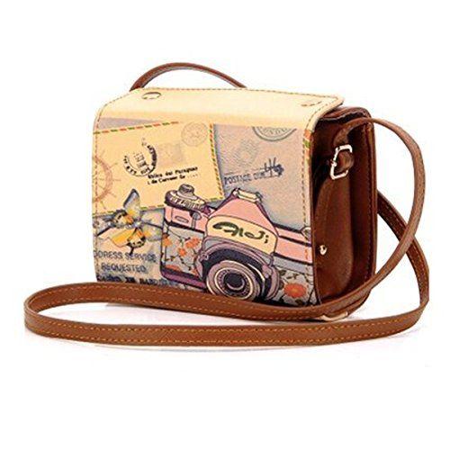 Retro Vintage Brown PU Leather Fuji Instax Mini Camera Case For Fujifilm Instax Mini 7s Mini 8 Mini 25 Mini 50s Instant