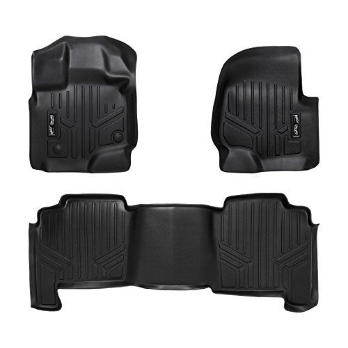 MAXFLOORMAT Floor Mats for Ford F-150 SuperCrew (2004-2008) / Lincoln Mark LT (2006-2008) Complete Set (Black). For product info go to:  https://www.caraccessoriesonlinemarket.com/maxfloormat-floor-mats-for-ford-f-150-supercrew-2004-2008-lincoln-mark-lt-2006-2008-complete-set-black/