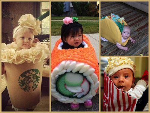 déguisement enfant carnaval nourriture starbuck sushi tacos pop corn
