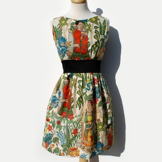 """Head Over Wheels"" Frida in the Jungle Tan Dress"