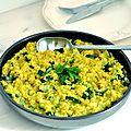 Quinoa aux courgettes et curcuma comme un risotto