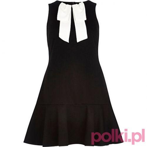 Czarna sukienka, River Island #polkipl