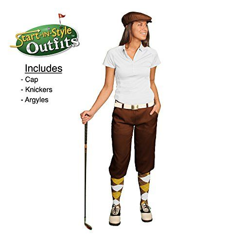 Start-In-Style Golf Knickers Outfit - Ladies - Brown - Size 18 * More info could be found at the image url.