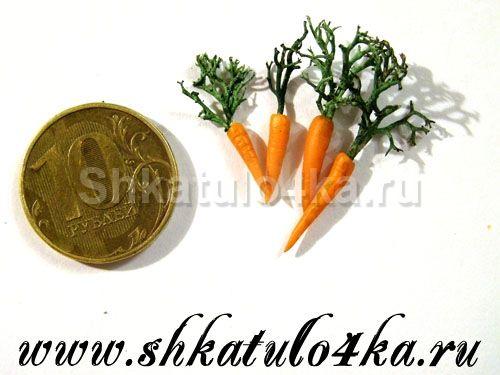 Кукольная миниатюра Морковка-1
