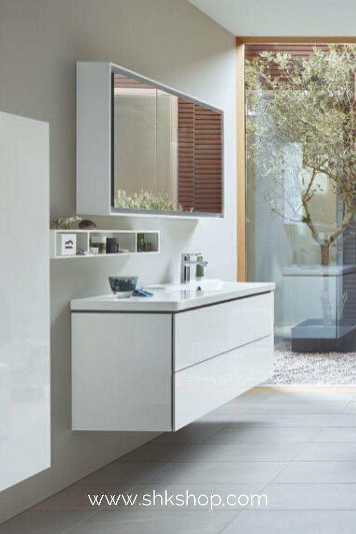 Duravit L Cube Spiegelschrank Mit Led Beleuchtung Breite 1200mm Wandvorbau In 2020 Spiegelschrank Duravit Badezimmerspiegel
