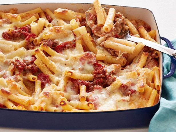 Baked Ziti Recipe : Food Network Kitchens : Food Network - FoodNetwork.com; add 1 lb italian sausage to sauce
