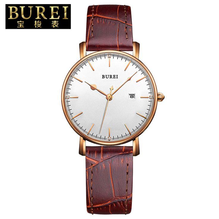 Купить товарBurei женева часы швейцария подлинные кожаные спортивные женщины часы деловых женщин часы свободного покроя часов relogio masculino feminino в категории Парные часына AliExpress.