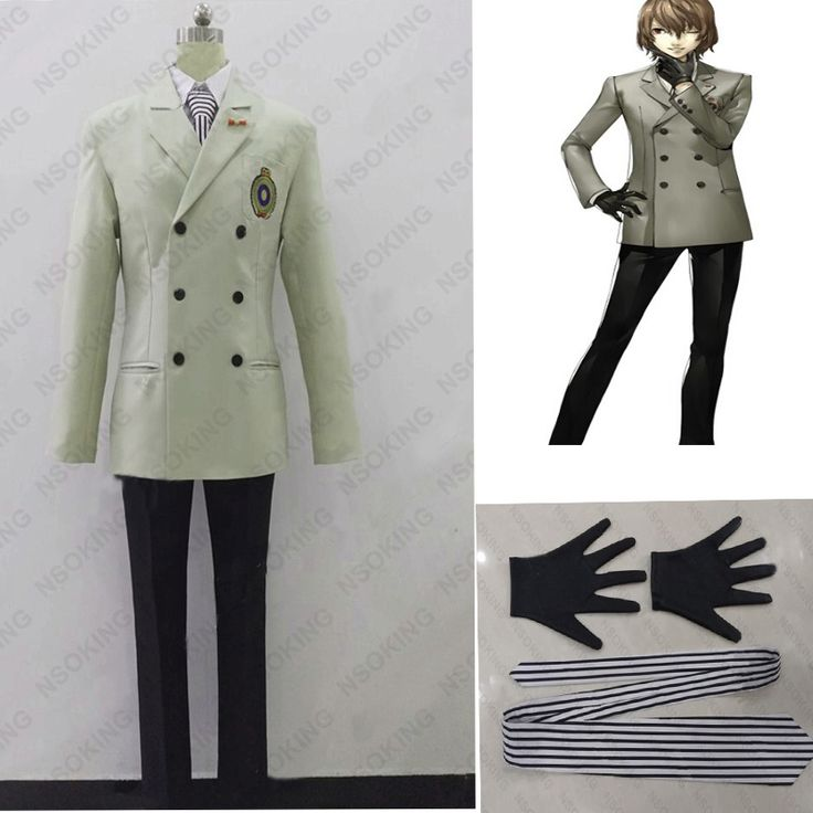 New Persona 5 Goro Akechi Cosplay Crow Costum school uniform custom made  #Affiliate