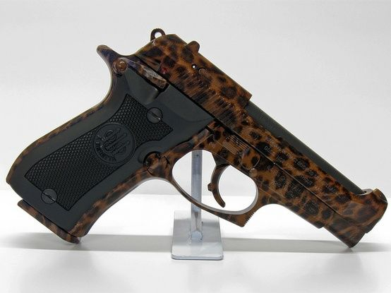 Beretta cheetah...with cheetah print! Think this would be perfect with or without the custom print!
