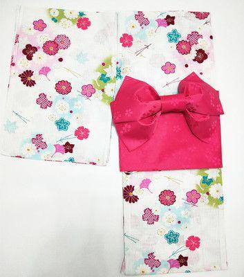 日本純棉和服浴衣定型腰封木屐八件套COS舞臺日式浴衣含頭飾-淘寶網