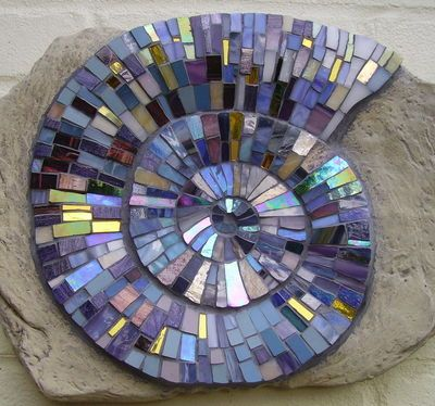 Mosaic Ammonite | Catherine Van Giap, Freshwater Mosaic Co.