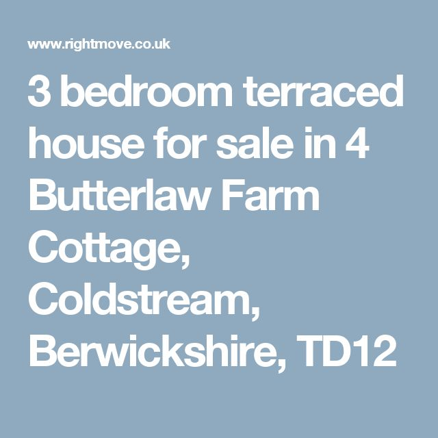 3 Bedroom Terraced House For Sale In 4 Butterlaw Farm