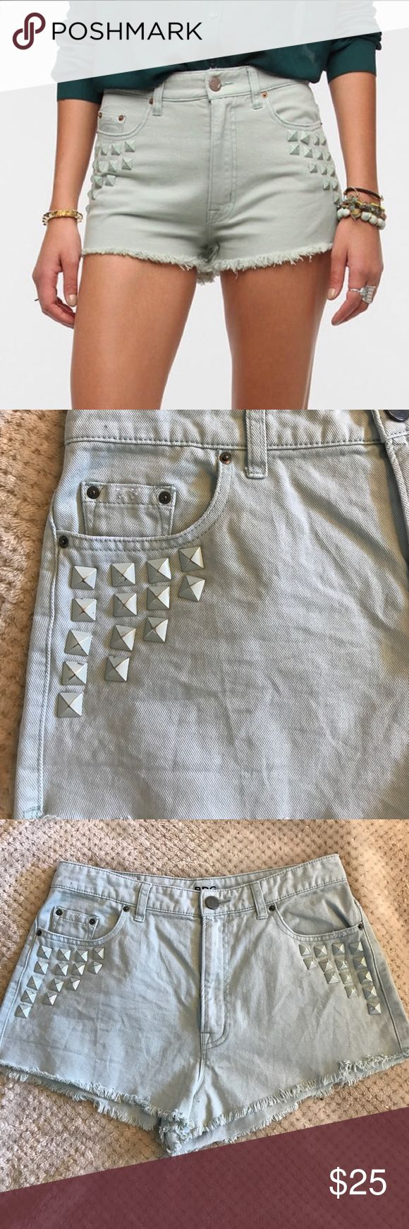 BDG High Rise Dree Cheeky Short Worn once and in excellent condition. Adorable shorts from Urban Outfitters that are perfect for a hot summer day. Looks great with white tops! From a smoke free home. Urban Outfitters Shorts Jean Shorts