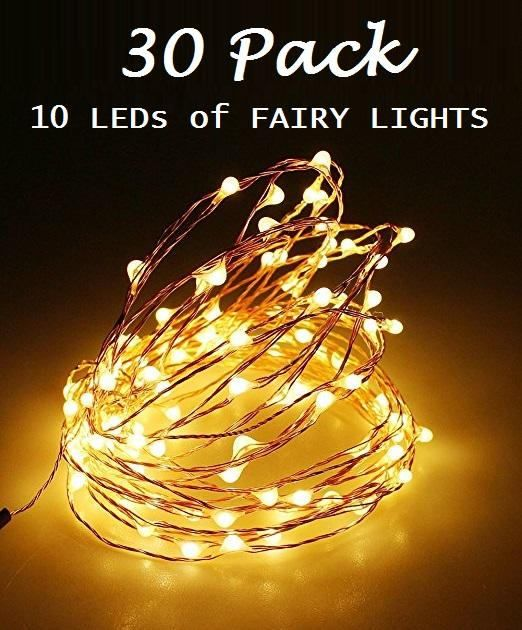 30 Pack of 10 LEDs Fairy Lights Wedding Decorations lights