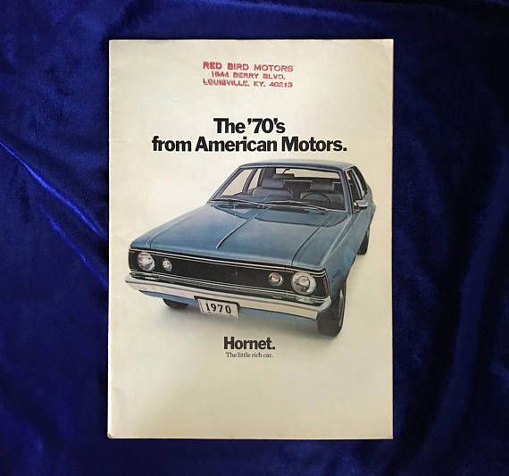 1970 Hornet Rebel Javelin American Motors Car Dealer's