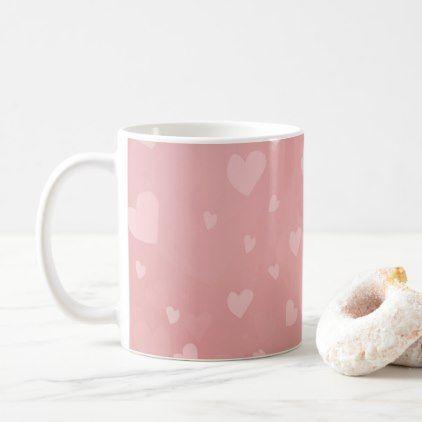Girly Rose Heart Pattern Coffee Mug | Zazzle.com