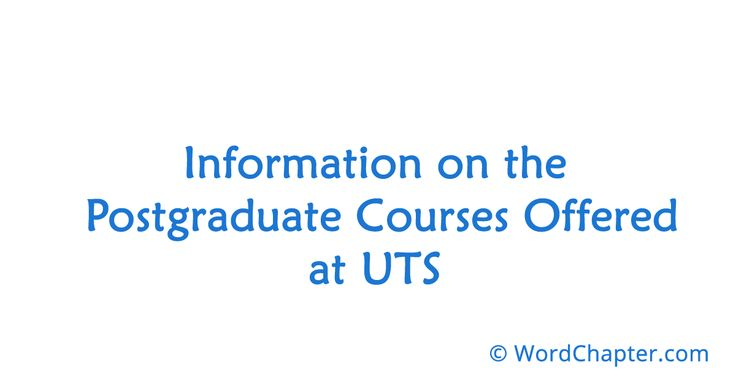 Information on the Postgraduate Courses Offered at UTS | Nursing Courses