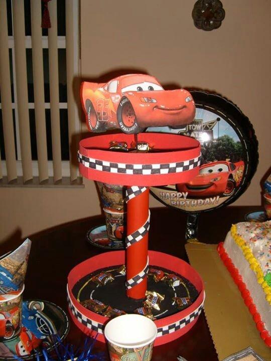 Centro de mesa cars