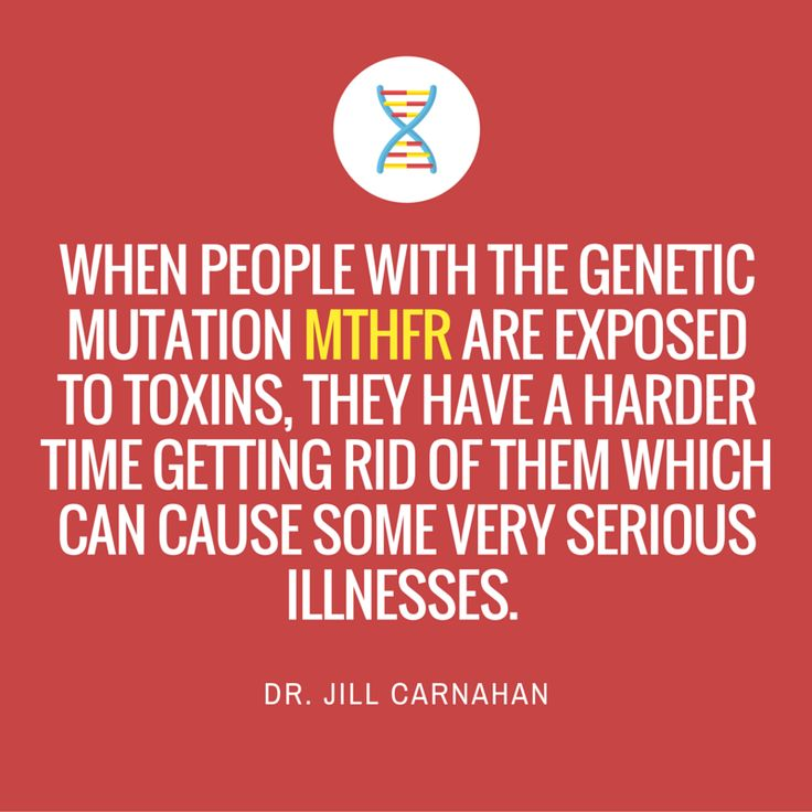 Methylation is a core process that occurs in all cells to help your body make biochemical conversions.  When people with genetic mutations is MTHFR are exposed to toxins, they have a harder time getting rid of them which can cause some very serious illnesses.