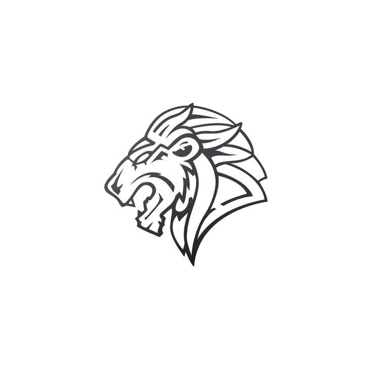 Outline version of symbol Lion (fin)  Tsaritsyn Design www.behance.net/tsaritsyndesign www.facebook.com/EugeneTsaritsynDesign www.instagram.com/tsaritsyndesign