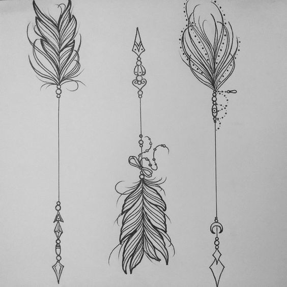 The ending of the arrow (Left) with the tip of the arrow (Right) Is how I want my tattoo to look like